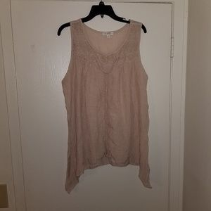 Spense tan tank top / blouse
